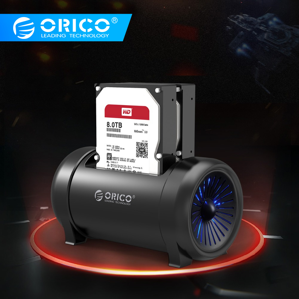 ORICO Two Bay Offline Clone HDD Docking Station 2.5 &3.5 HDD with Cooling Fan and 12V DC 5628US3 HDD Station Power Adapter