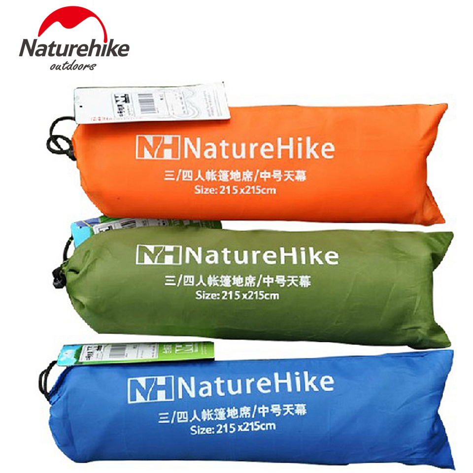 цена на 2.15*2.15M Naturehike Canopy Cloth Sun Shelter Beach Shelter Awning Floor Camping Mat Blanket Cushion Footprint Hiking 6 Holes