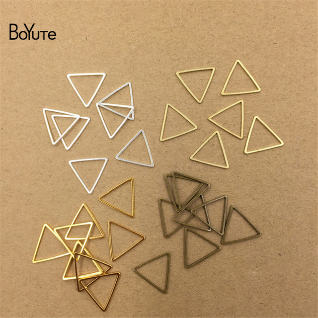 BoYuTe Metal Brass Geometric Triangle Connector Charms 4 Colors DIY Jewelry Findings Components 4