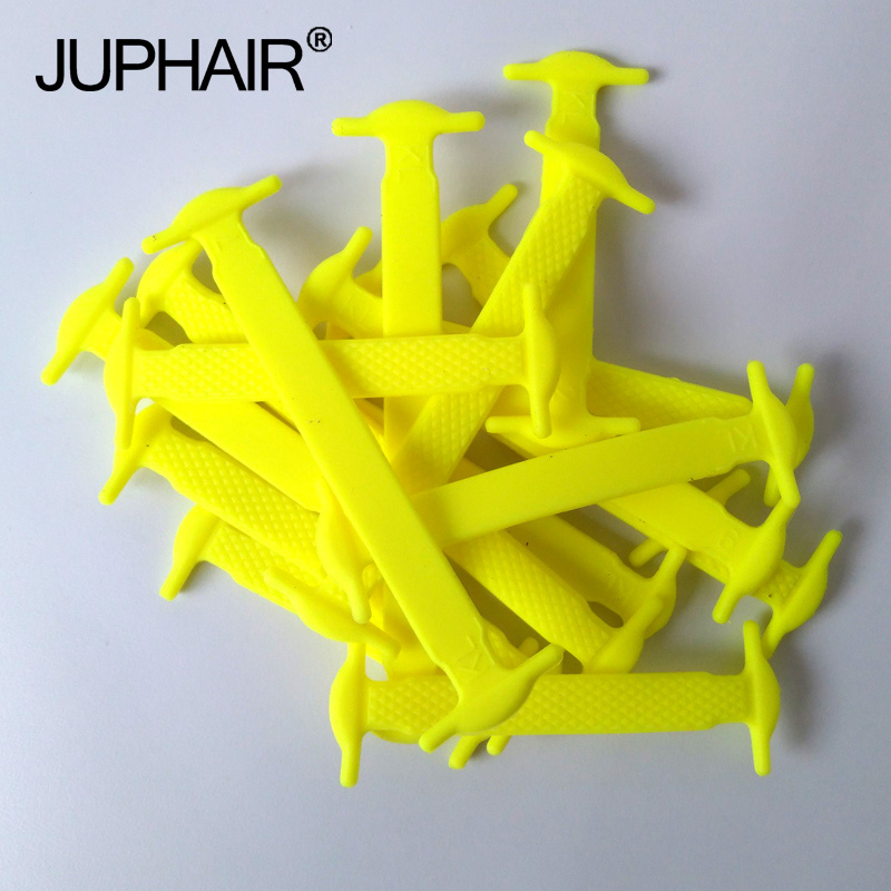 JUP 1-50 Sets Yellow Elastic Silicone Fashion Young Kids Childs Boys Athletic No Neckties Shoelaces Laces All Sneakers Fit Strap jup1 50 sets 20piece set yellow fashion unisex womens mens athletic no tie shoelaces elastic silicone laces all sneakers sports