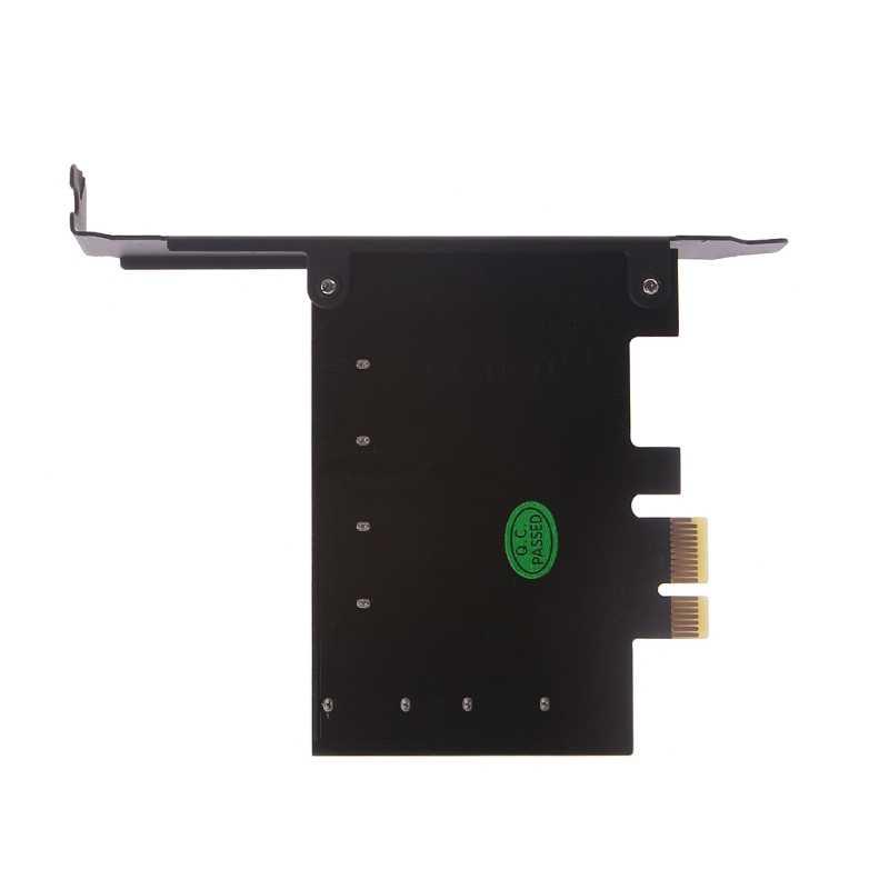 PCI Express 1x כדי 4-יציאת Sata 3.0 6 גרם התרחבות בקר כרטיס מארוול 88SE9215