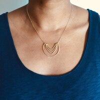 Letter U Necklaces Handmade Jewelry Personalized Gold Wrap 925 Silver Pendant Vintage Hoho Choker Kolye Jewelry Women Riverdale