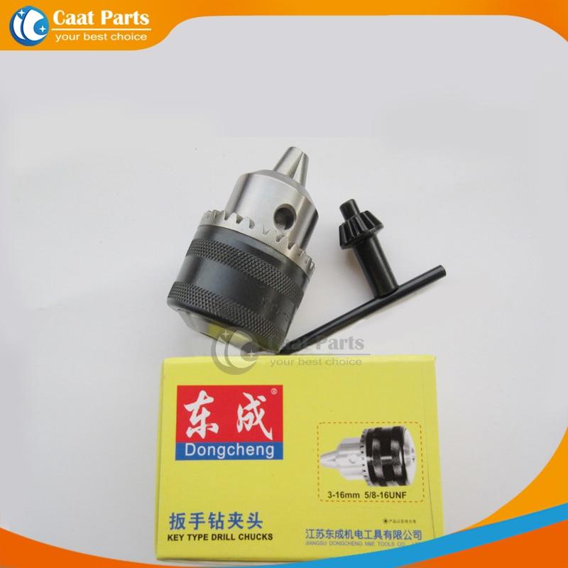 """Spedizione gratuita! 3.0 ~ 16mm Drill Chuck 5/8 """"-16UNF Supporto con chiave per trapani elettrici Accessori per elettroutensili"""