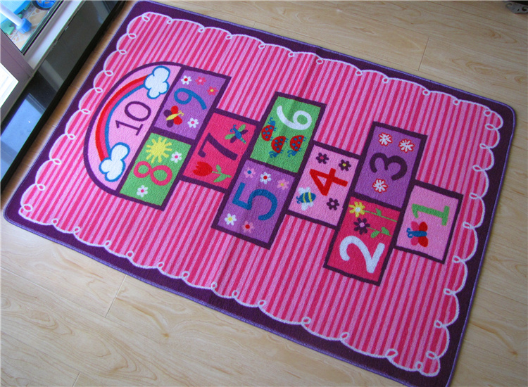 Design Unique tapis rose numéro thème enfants tapis enfants tapis enfants tapis bande dessinée tapis bébé tapis bébé ramper Pad tapis de jeu - 2