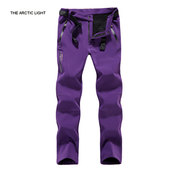 THE ARCTIC LIGHT Winter Sport Hiking Pant Women Thermal Soft shell Fleece Outdoor Waterproof Plus Size Tactical Snow Gym Trouser the arctic light waterproof pants kids outdoor windproof softshell for boys girls blue red winter fleece hiking trouser children