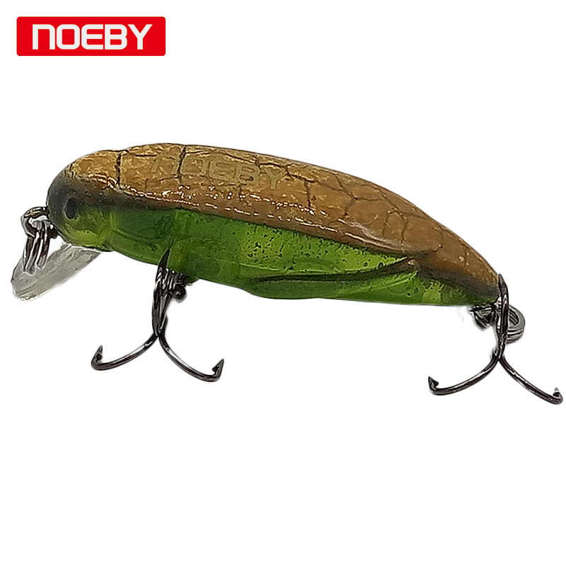 Noeby 1 pcs 3.7mm/g insect bait Fishing Tackle Lure Minnow Insect Grasshopper Hard Baits Crankbait VMC Hook