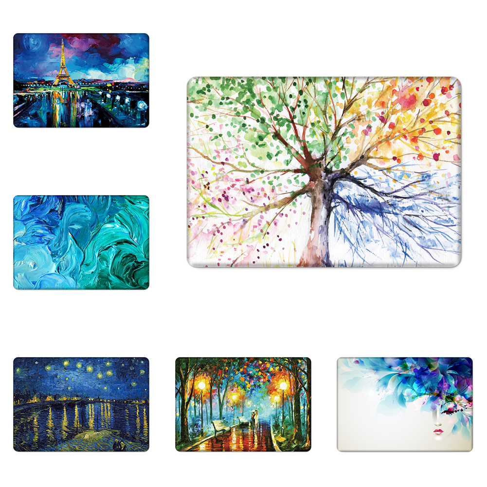 Nature Oil Painting Transparent Crystal For Apple Mac Macbook Pro 15 Case Cover Macbook Pro 13 15 Inch With Retina Display