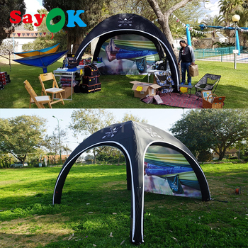 Portable Inflatable Event Canopy Tent Camping Tent Igloo X Tent Car Garage Tent for Show Party Promotions Personal Entertainment