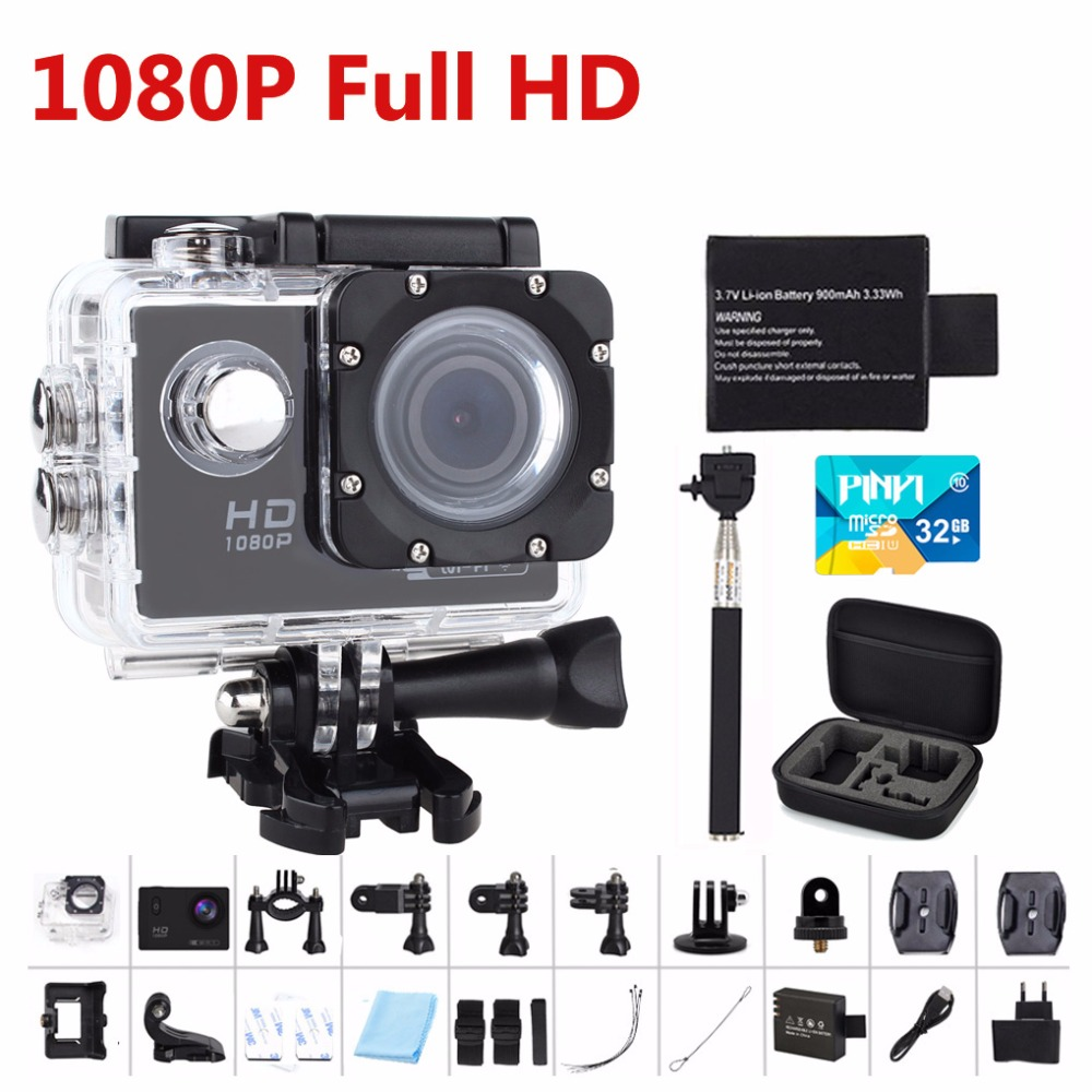 Goldfox Cámara de Acción 1080 P Full HD 30 M Ir a prueba de agua pro cámara Del
