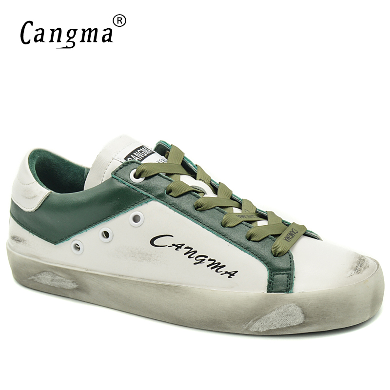 CANGMA  Women Flats Solid Casual Shoes Bass White Green Genuine Leather Sneakers Vintage Woman Shoes Donna Large SizeCANGMA  Women Flats Solid Casual Shoes Bass White Green Genuine Leather Sneakers Vintage Woman Shoes Donna Large Size