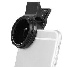 Zomei regulowany 37mm neutralny gęstość Clip on ND2 ND400 telefon aparat ND filtr obiektyw dla iPhone Huawei Samsung telefon komórkowy