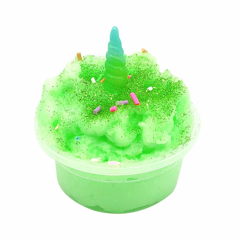 DIY juguetes de lodo transparente nube de mezcla de barro esponjoso Floam masilla perfumada de barro de arcilla de estrés juguete para regalo de Navidad Dropshipping