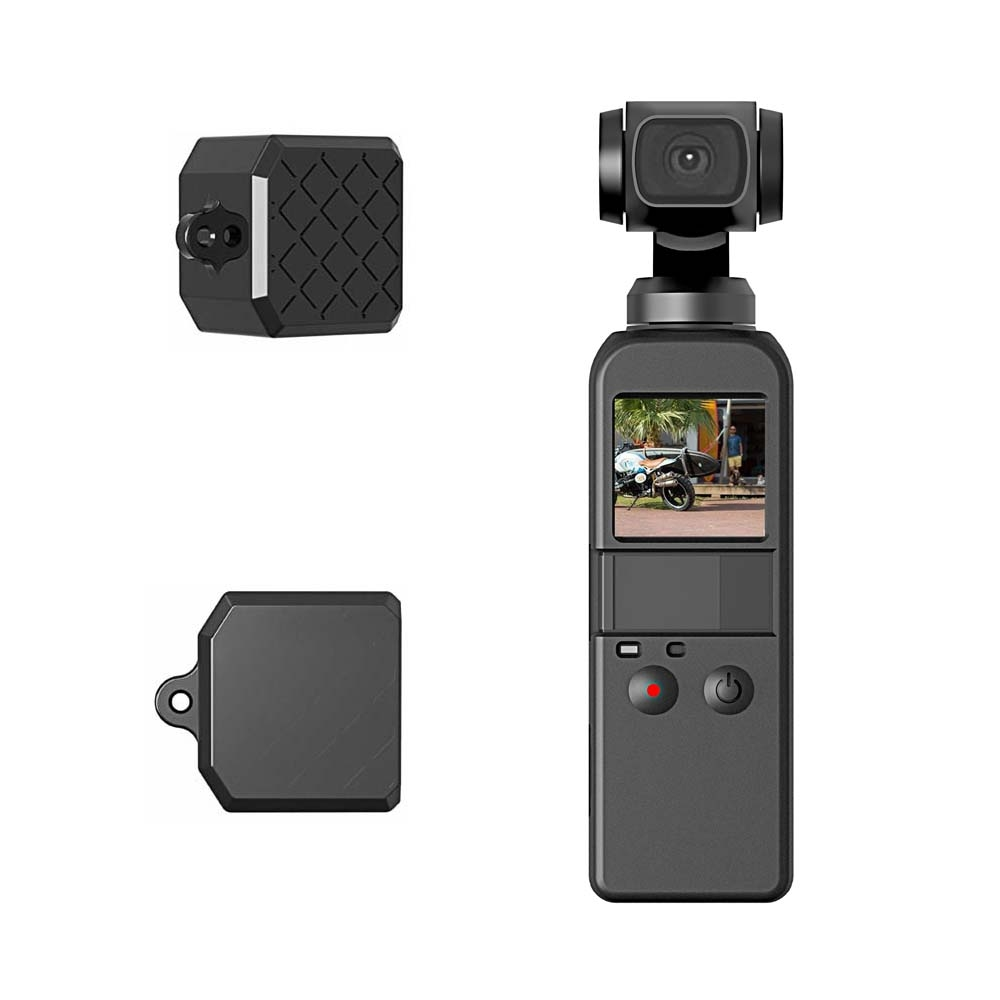 PULUZ 2 Pcs Soft Case For DJI OSMO Pocket 2 in 1 Diamond Texture Silicone Solid Protective Case in Camera Video Bags from Consumer Electronics