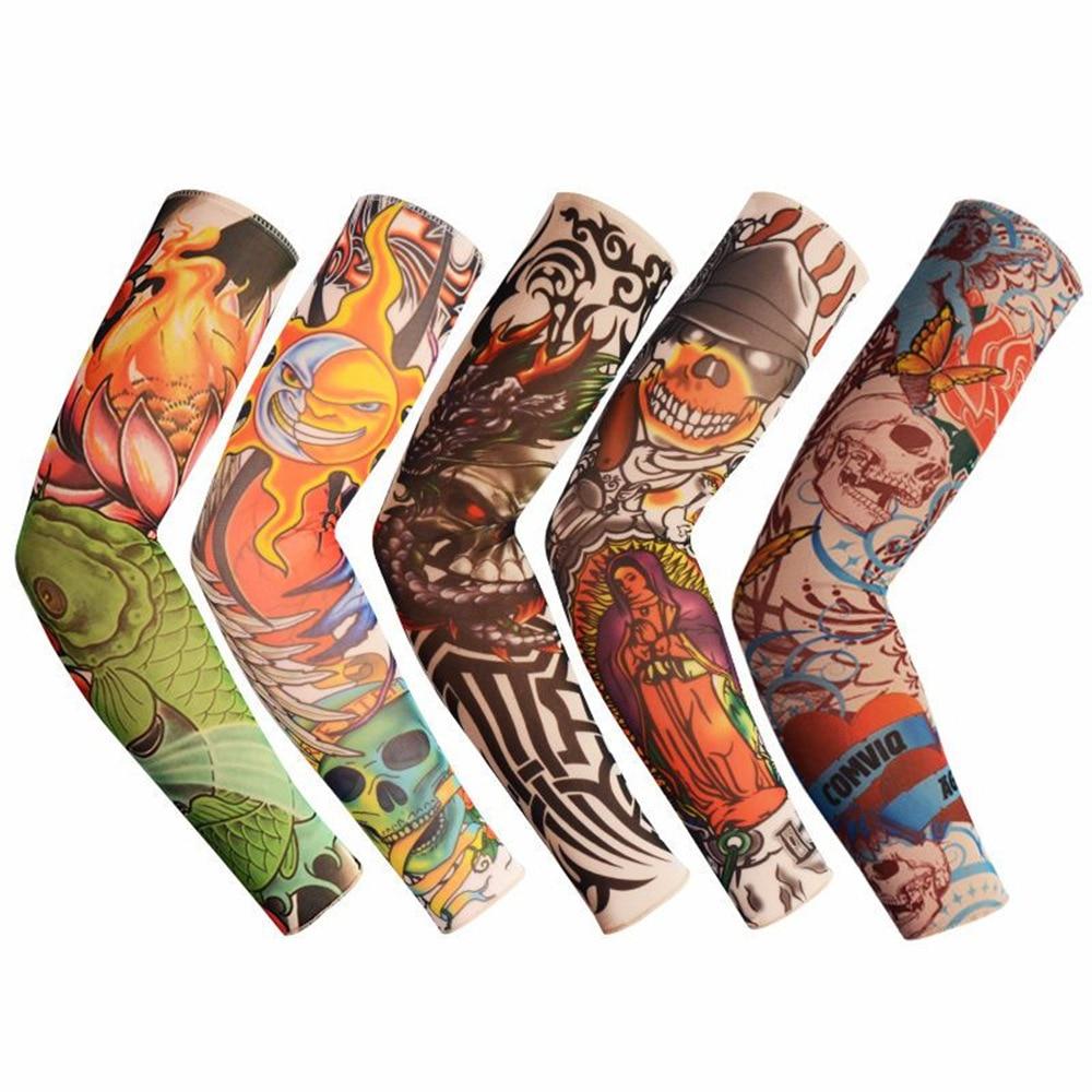 1PCS Large Variety New Fashion Sports Tattoo Sleeves Arm Warmer Unisex UV Protection Outdoor Temporary Fake Tattoo Arm Sleeve