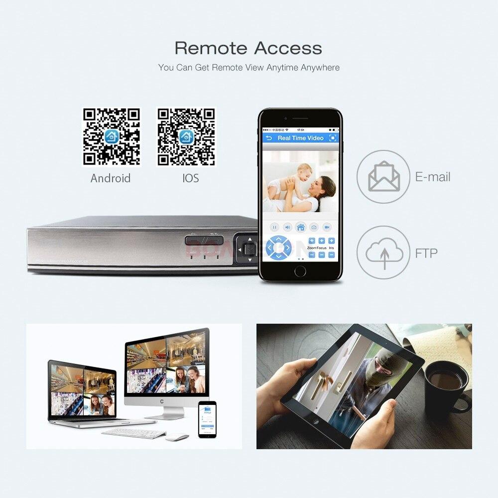 8CH 16CH 5MP CCTV NVR H.265/H.264 Детектор движения CCTV сетевой видеорегистратор FTP ONVIF для ip-камеры системы безопасности