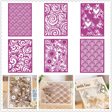 Rectangular Background Pattern Frame Metal Cutting Dies for Scrapbooking and Cards Making Paper Craft Die New 2019 Flower Heart