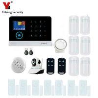 Yobang безопасности Беспроводной приложение Управление HD IP Камера Мониторы WI FI gsm Охранной Сигнализации Системы мини смарт pir/двери магнитный