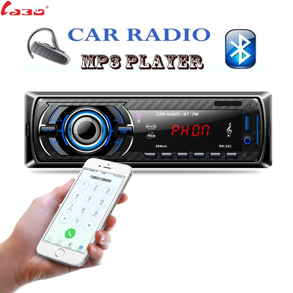 PK-523 Bluetooth Auto Stereo Audio In-Dash FM MP3 Radio Player mit AUX-IN SD USB DC 12 V USB MP3 MMC WMA FLAC Autoradiospieler