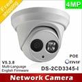 Бесплатная доставка Новая модель DS-2CD3345-I заменить DS-2CD2345-I DS-2CD2342WD-I 4MP массив 30 м ИК Сетевая Купольная ip камеры безопасности H265
