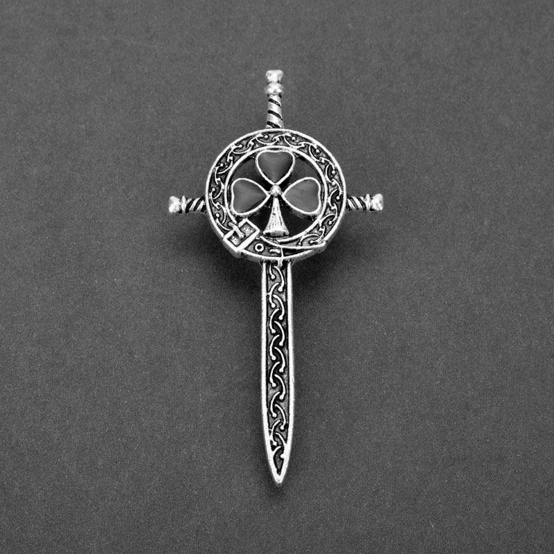 dongsheng Outlander Thistle Celtics Knot Kilt Pin Brooch Scottish National Flower Brooches Women Men Viking Norse Jewelry