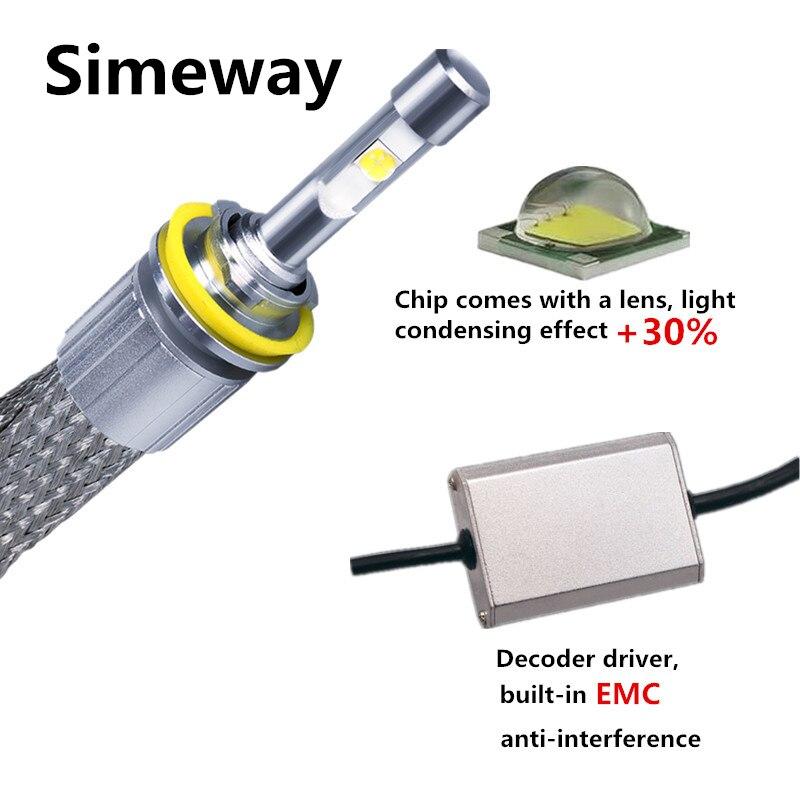 4300K 6000K car light styling LED Headlight Bulb P50 led HB4 9006 9012 H1 H4 H7