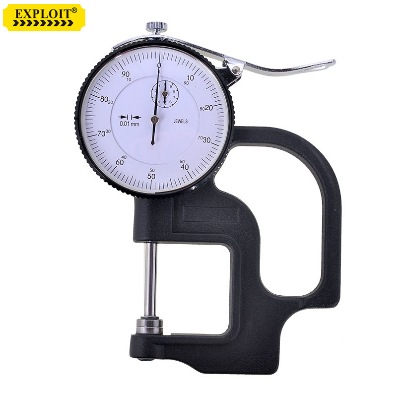 Table Thickness Gauge 0-10mm Accuracy 0.01mm thickness paper thickness of the leather belt table