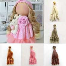 Hair Extensions 1pieces 15*100CM Doll Wigs Wefts for 1/3 1/4 1/6 1/8 1/12 Handmade Accessories