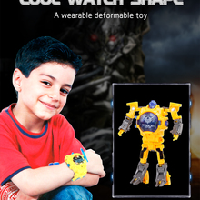 1pc Creative Kids Wristwatch Transformation Electronic Robot Watch Toy for Child