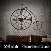20 inches Large Wall Clock Saat Relogio de parede Duvar saati Retro mute clock Creative fashion art bar wall decoration watch