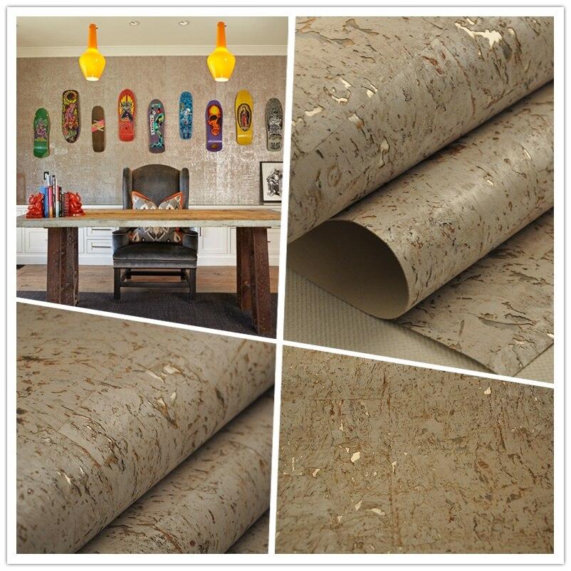 Real Cork Silver Glitter  White Bath Room Wallpaper Cork Wallcovering For Rest Room