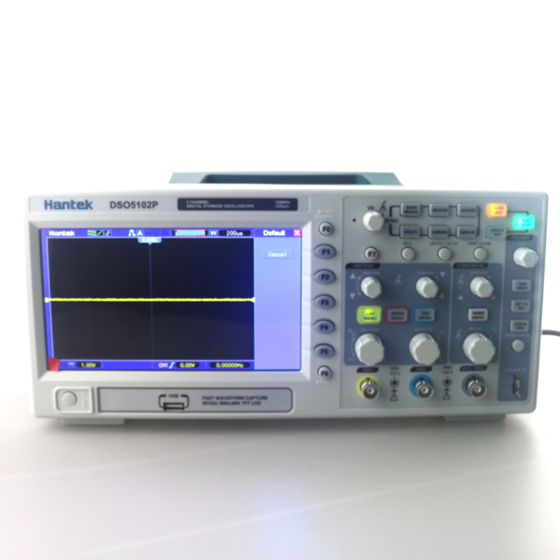 Hantek DSO5102P Digital Storage Oscilloscope 100MHz 2 Channel 7.0-inch Color Display WVGA 800x480 dso 150 2 0 lcd usb dual channel oscilloscope