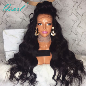Image 3 - Echte Menschliche Haar Spitze Front Perücken 480 gramm Super Dicke Dichte 13x4 Brasilianische Wellig Remy Haar Perücke Pre gezupft Qearl