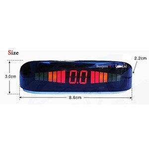 Image 2 - Koorinwoo Originele Auto LED Screen Parkeer Sensor Multicolor Set 4 Probes Auto Reverse Radar Parktronic blind Alert Indicator