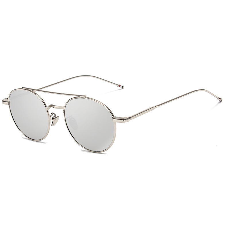2b6e17cd56 Rosa Sombrillas marca 2017 nueva Ronda hombres mujeres moda espejo Gafas de sol  señora Italia UV400 Sol Gafas vintage famoso en Gafas de sol para mujer de  ...