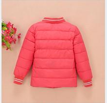 2016 new autumn and winter children 's thicker children' s jacket down jacket small girls boy warm underwear