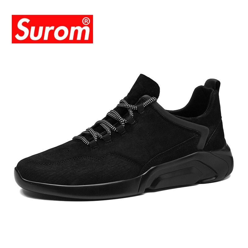 SUROM zapatillas de deporte de los hombres zapatos casuales zapatos de Primavera de 2018 nueva moda Otoño Harajuku estilo Estudiante Adulto zapatillas de deporte hombres Krasovki zapatos de marca