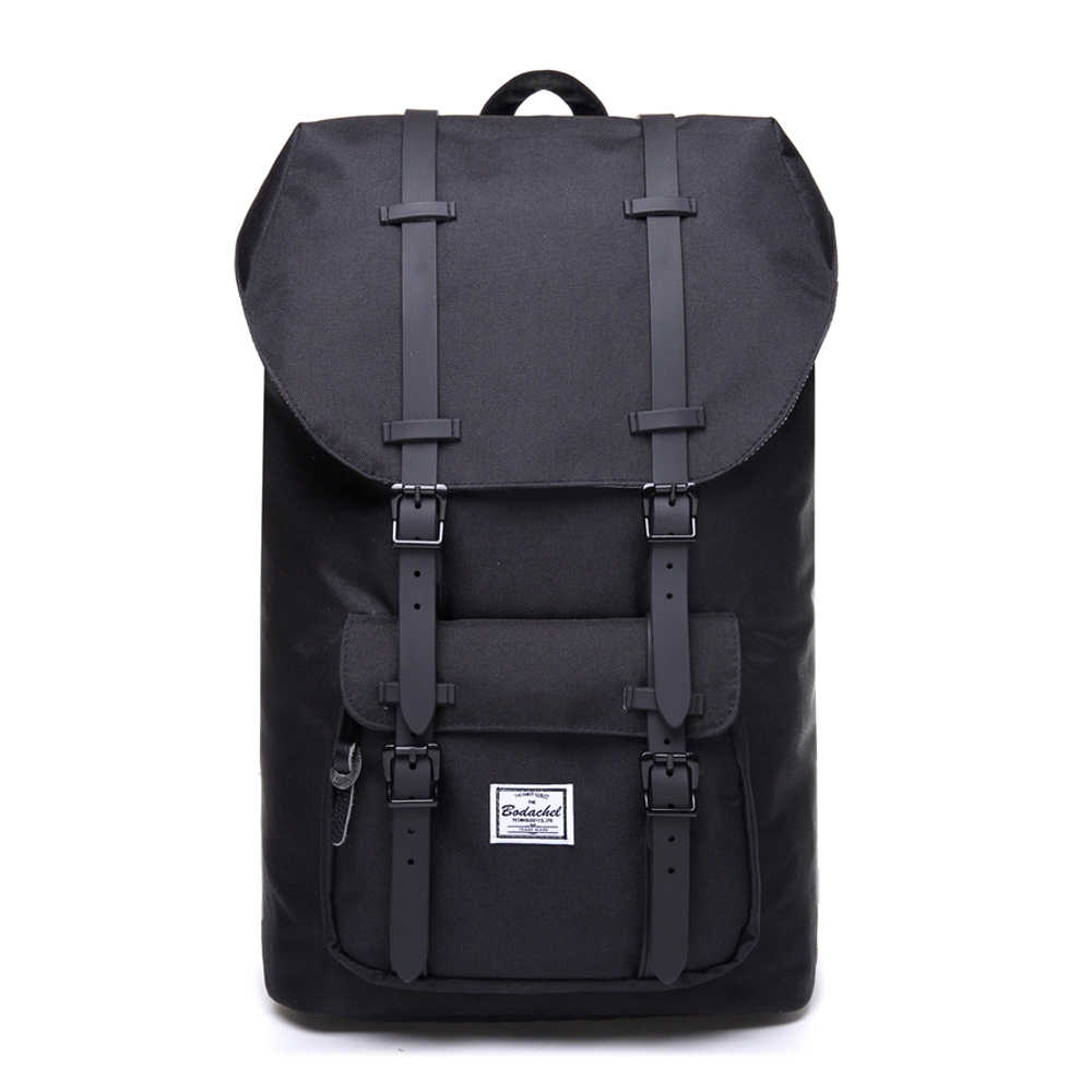 Bodachel Fashion Backpack for Men and Women 15.6'' Laptop Backpack Big Male Water-resistant Durable Travel Back Pack Designer