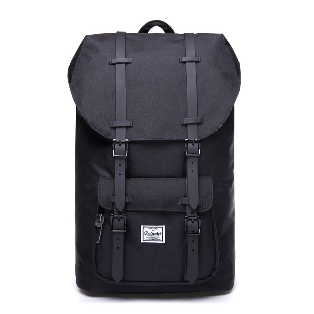 Bodachel Fashion <font><b>Backpack</b></font> for Men and Women 15.6'' Laptop <font><b>Backpack</b></font> Big Male Water-resistant Durable Travel Back Pack Designer image