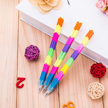 Creative stationery Rainbow Building pencil pencil pupils writing HB pen kindergarten gifts Stationery office supplies for(China)