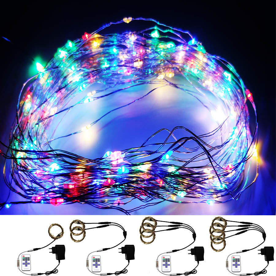 80m 5m Led Strings DC 12V White/Warm Led Fairy Copper Wire RGB LED String Holiday Lighting Garland Outdoor For Christmas Party