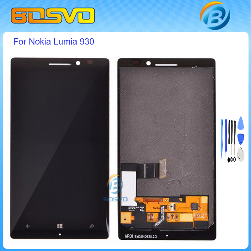 5.0 High quality Replacement lcd display with touch screen digitizer for Nokia lumia 930 lcd assembly+free tools black color