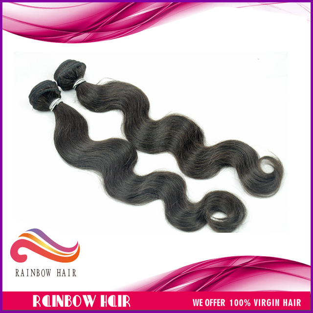 "2pcs/lot 12""~30"" Virgin Malaysian hair weft body wave human hair wavy free shipping"