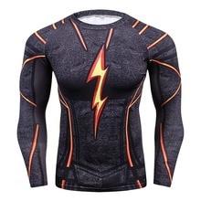 2018 FLASH Compression Shirt Men 3D Printed T-shirts Men Rag