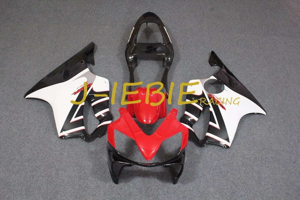 Black red white Injection Fairing Body Work Frame Kit for HONDA CBR600 CBR 600 CBR600F F4I 2001 2002 2003
