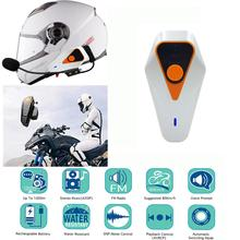 DSstyles IPX5 1000m Waterproof Motorcycle Helmet Bluetooth Wireless Headset Handsfree Intercom
