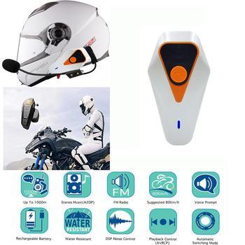 TWISTER.CK IPX5 1000m Waterproof Motorcycle Helmet Bluetooth Wireless Headset Handsfree Motorcycle Bluetooth Intercom