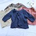 Venta al por mayor de la muchacha de la blusa del niño niña tops ropa ropa niños niña ropas 1-2-3-4yrs
