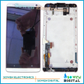 Para htc one max screen display lcd com digitador da tela de toque com conjunto completo de montagem de quadros, 100% novo