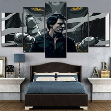 High Quality Canvas Painting Modern Wall Art Print Type Picture 5 Piece Movie The Mummy Tom Cruise Poster Home Decor Framework tom cruise