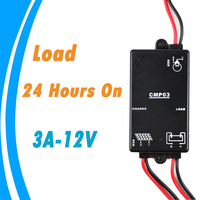 Solar Controller 3A 12V with Load 24 Hours On without Light and Timer Control Solar Regulator